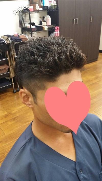 パーマ メンズ 短髪